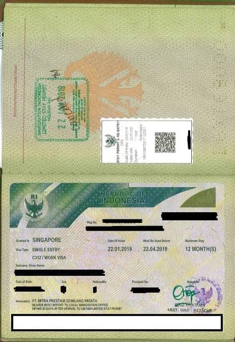 Working Visa Kitas Bali Indonesia