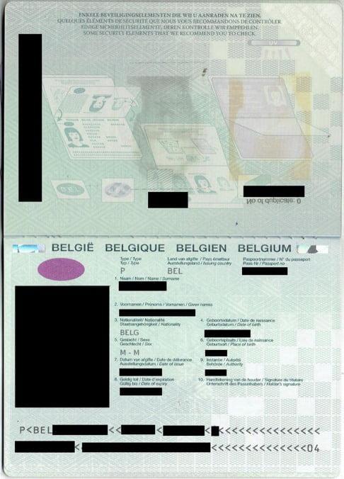 New E-Visa Passport Example