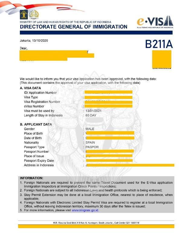 Visa Service Bali New E-Visa